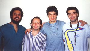 """Durante a gravação do CD"""" Crescendo"""" - Nova Iorque - Maio 1994"""